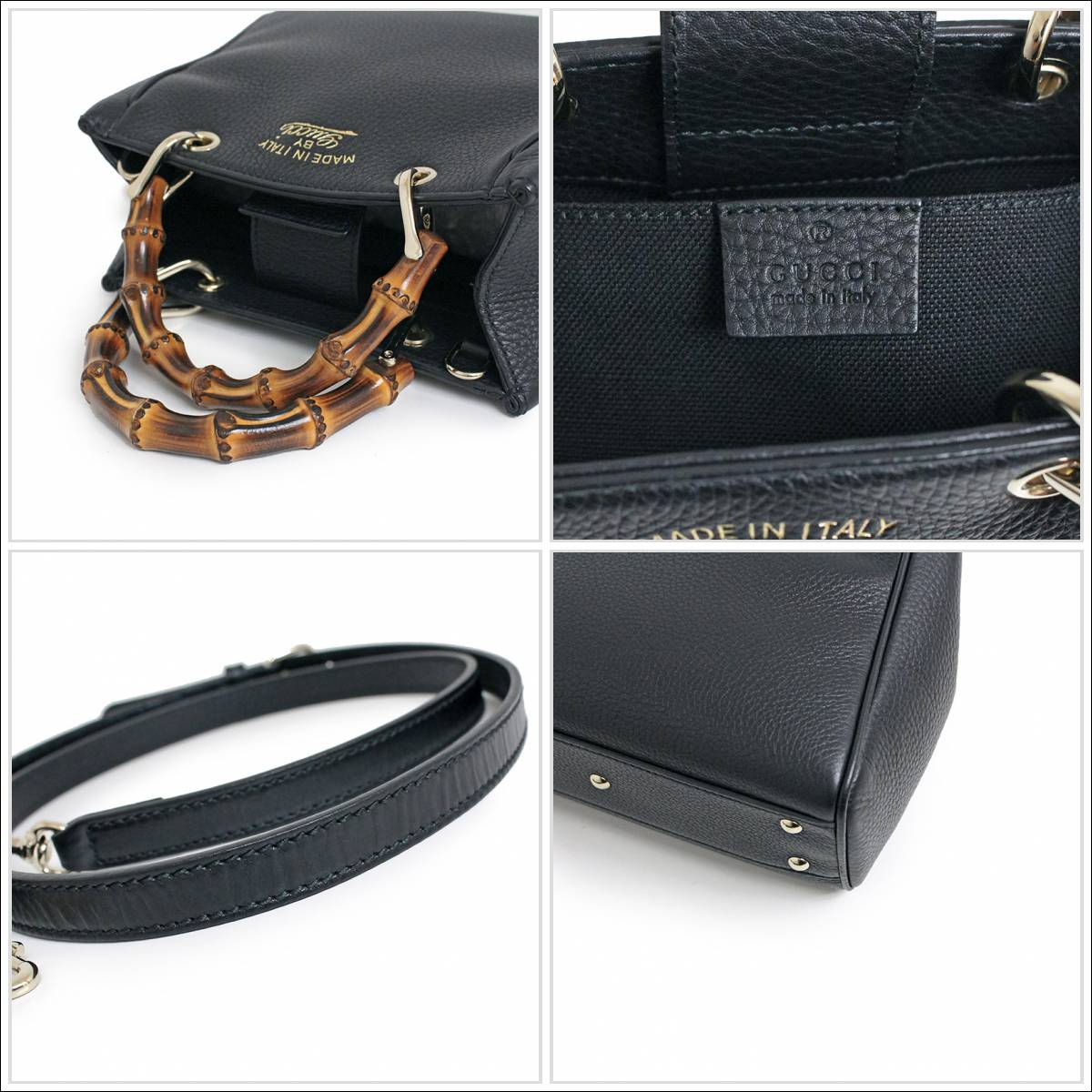 81f217c8e BrandCity: Gucci bamboo shopper mini-steering wheel bag 368823 black ...