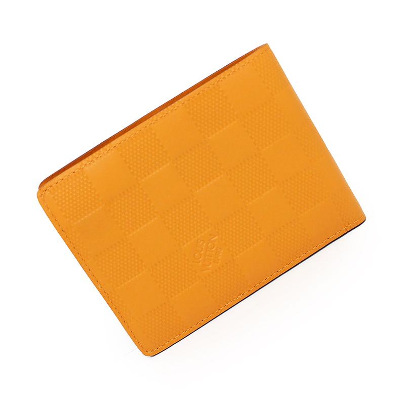 ルイ・ヴィトン ダミエ・アンフィニ ポルトフォイユ・ミュルティプル 二つ折り財布 ソラール 黄色系 N63148【新品・未使用品】