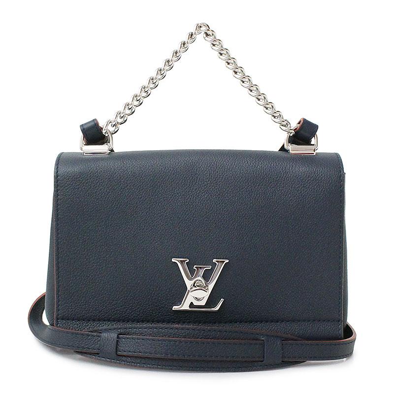 68db122c3810 BrandCity  Louis Vuitton lock me II BB 2way handbag navy blue system ...