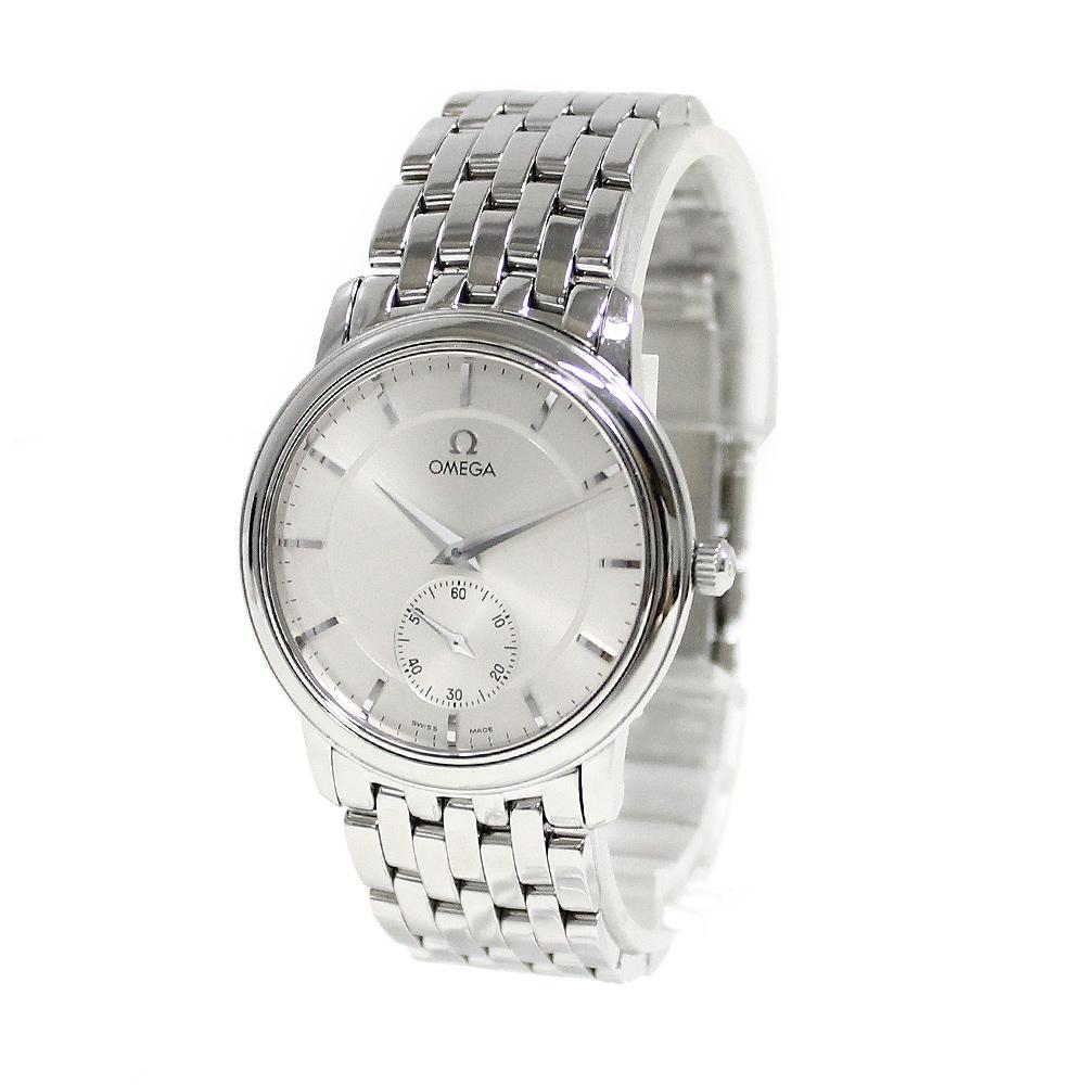 【中古】オメガ デビル プレステージ 手巻き スモセコ メンズ腕時計 シルバー 4520.31