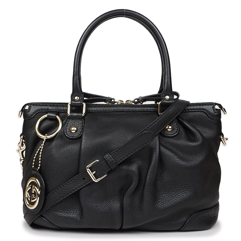 dc473ec898c7 BrandCity: Gucci calf Sioux key 2WAY handbag black black 247902 ...