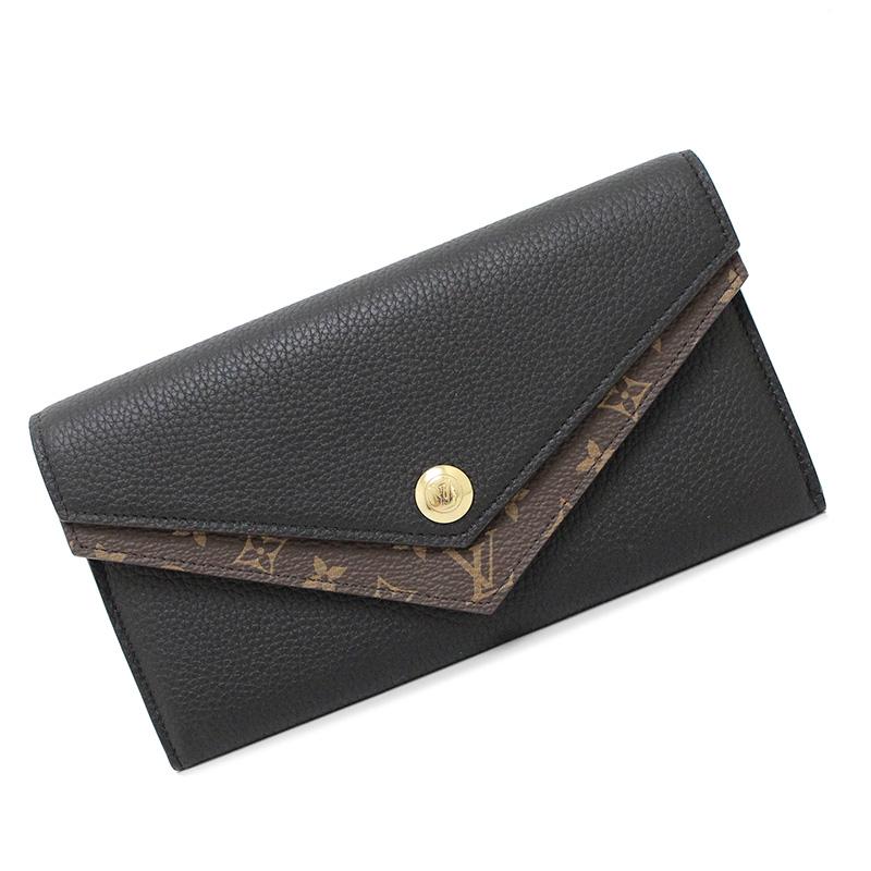 promo code f7312 d1576 Louis ヴィトンモノグラムポルトフォイユ do bulldog V M64319 folio long wallet black black