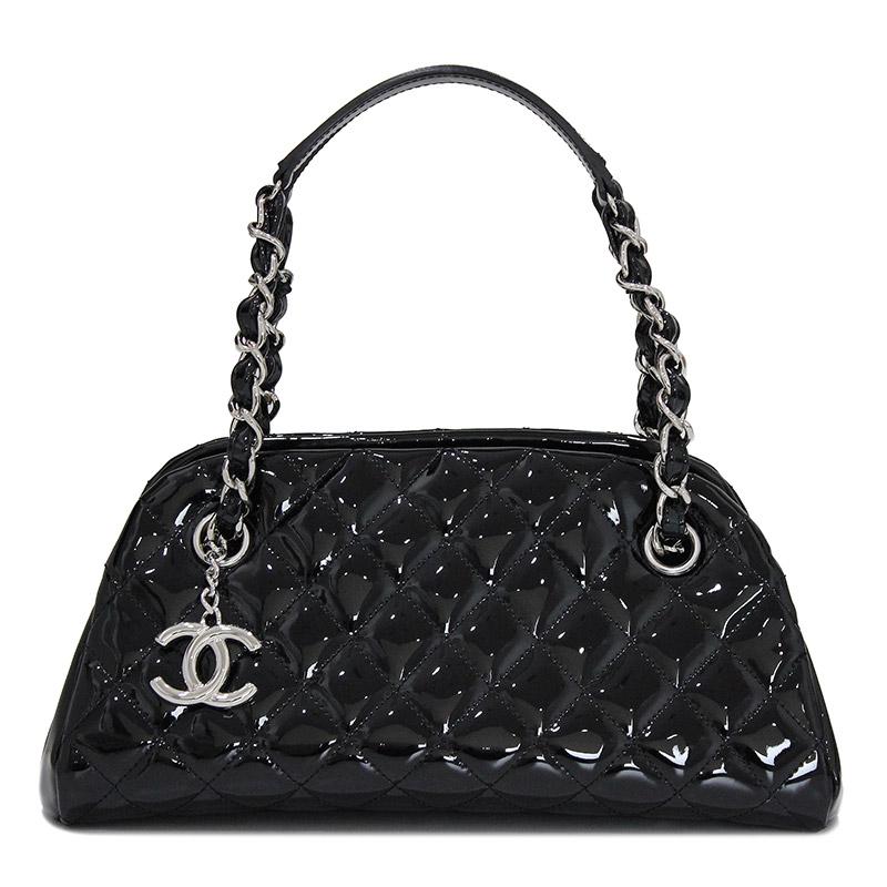 c1dfe9da1f0a BrandCity  Chanel patent leather mademoiselle bowling handbag black ...