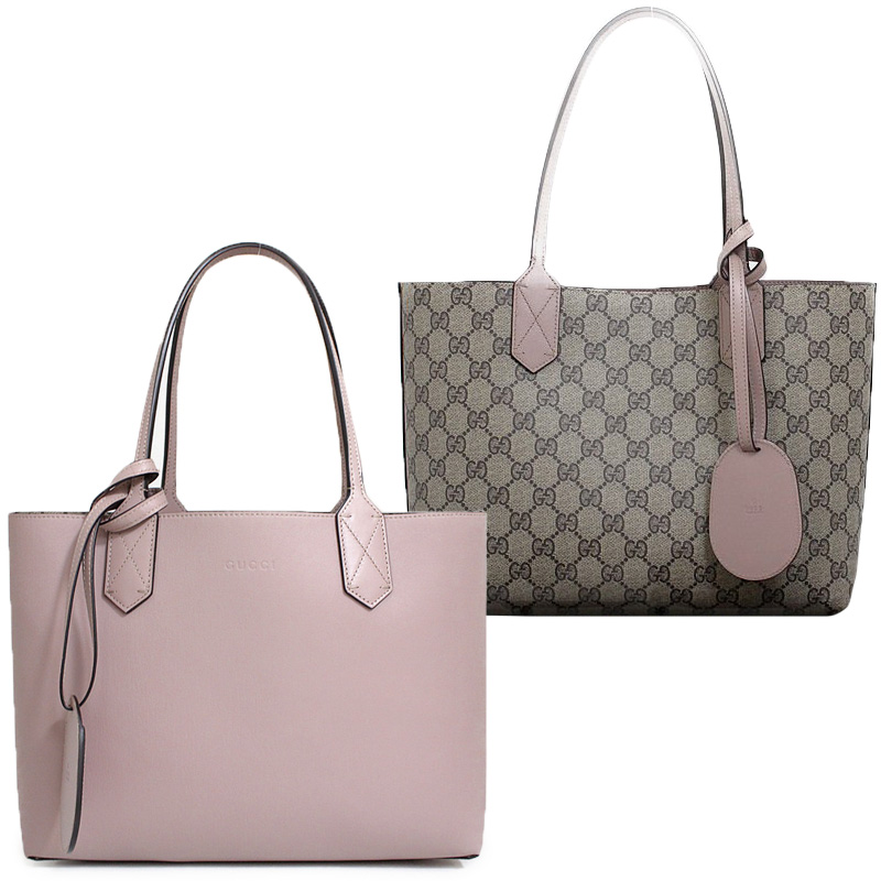 f6d317ae6e95 BrandCity: Gucci reversible GG leather Small tote bag pink 372613 ...