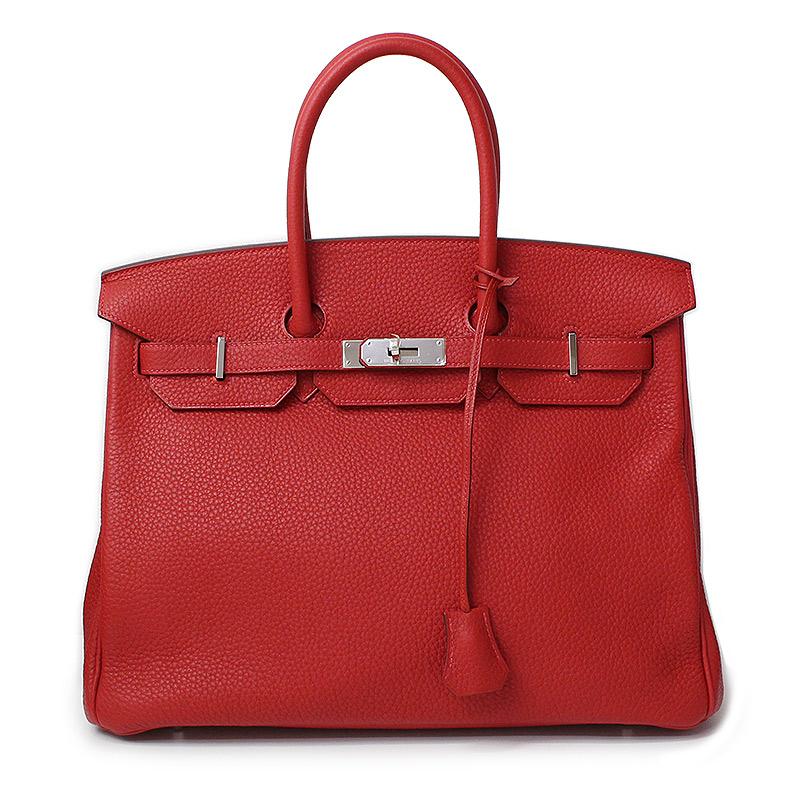 エルメス バーキン 35 ハンドバッグ クレマンス ルージュカザック 赤 レッド □P刻印【新品・未使用品】