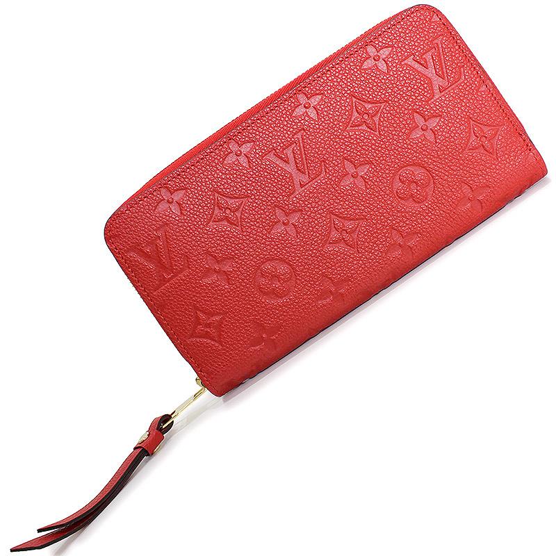 ルイ・ヴィトン アンプラント ジッピー・ウォレット 長財布 レッド 赤 M61865 2018年製【新品・未使用品】