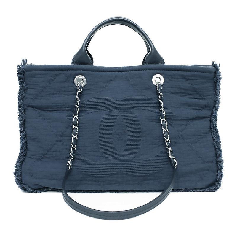 16be05f3ce85 BrandCity: Chanel large shopping bag 2WAY navy-blue A57180   Rakuten ...