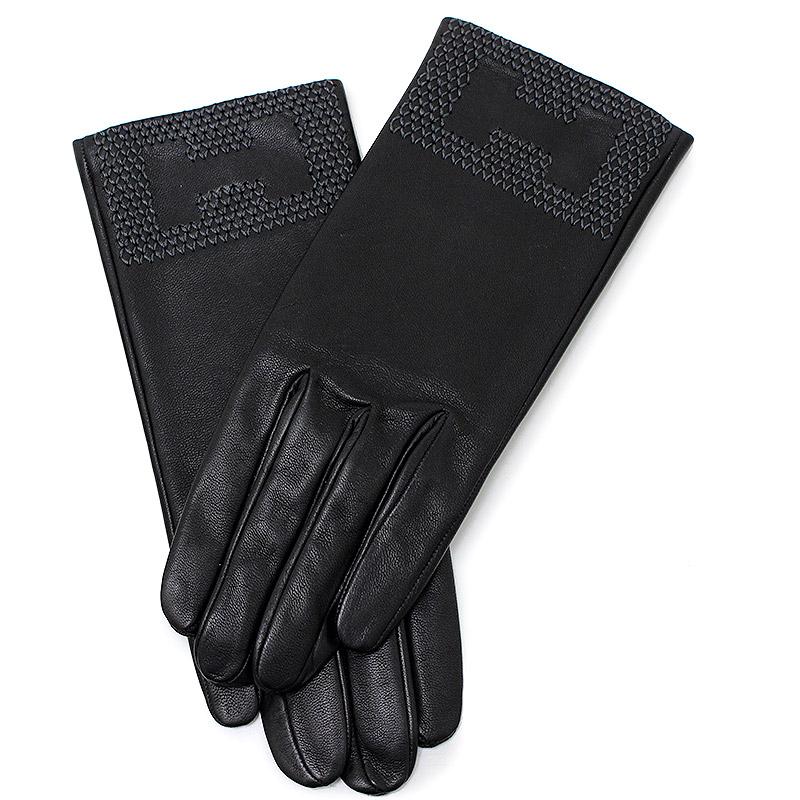 エルメス グローブ 手袋 Hステッチ ファシル 7 2/1 ブラック 黒 【新品・未使用品】