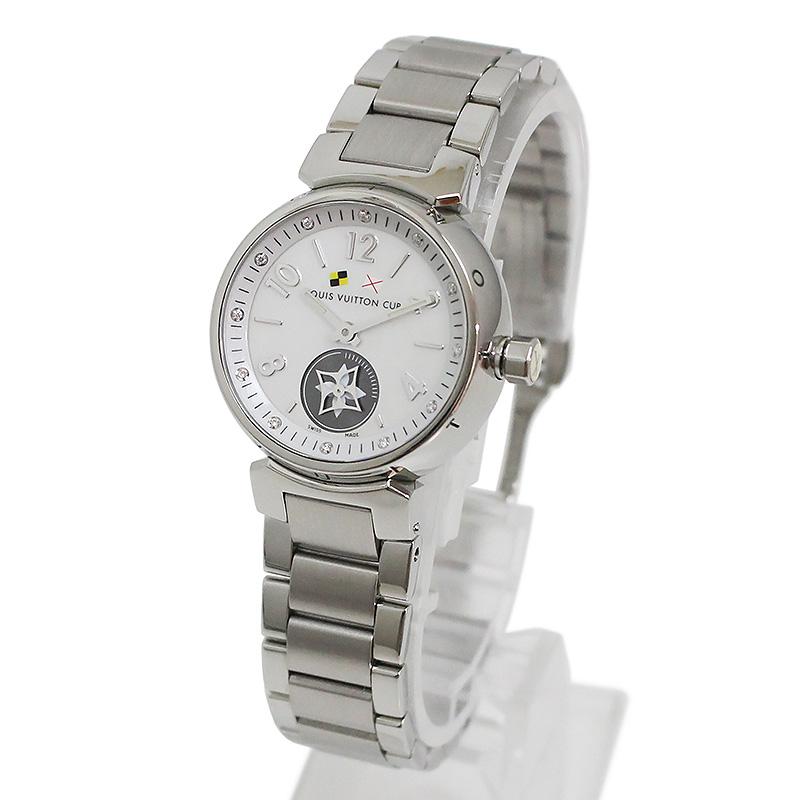 ルイヴィトン タンブール ラブリーカップ PM レディース 腕時計 Q12MO SSブレス 【美品】