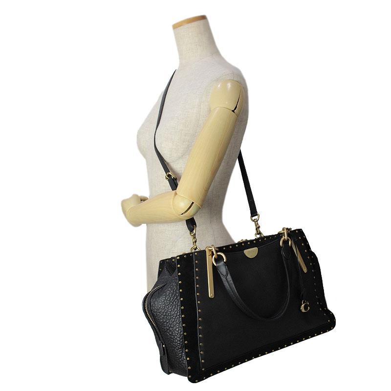 754d2a9d95 BrandCity  Coach dreamer 36 rivet 2Way handbag black 31640
