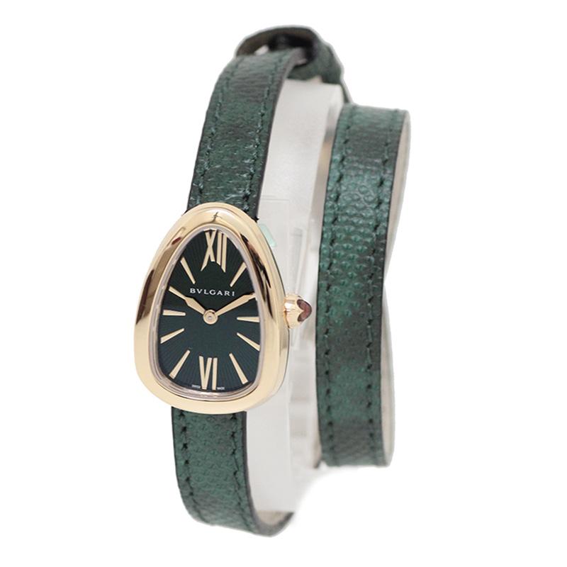 ブルガリ セルペンティ パイソン 替えベルト付 K18 レディース腕時計 SPP27C4PGL 【新品・未使用品】