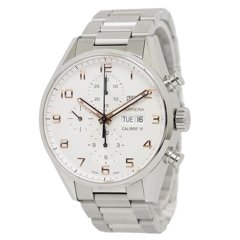 タグ・ホイヤー カレラ キャリバー16 デイデイト 自動巻き クロノグラフ 100M 43mm メンズ腕時計 CV2A1AC.BA0738 【新品・未使用品】
