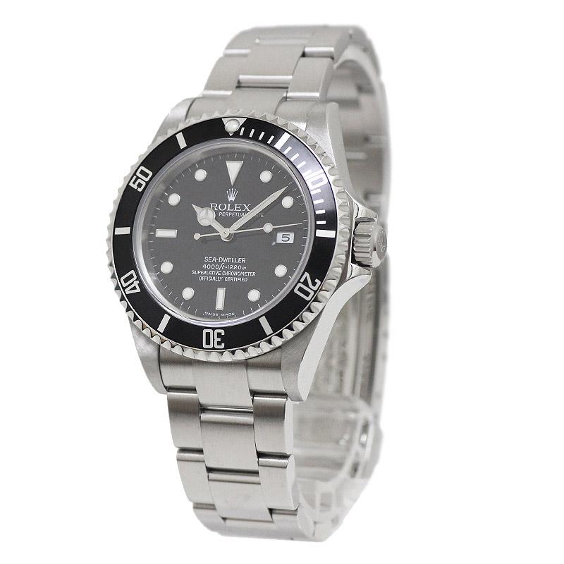 ロレックス シードゥエラー 16600 D番 ブラック文字盤 自動巻き 腕時計 【美品】