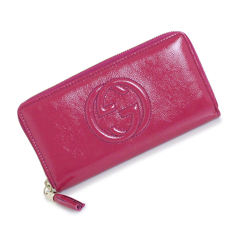 240f2092a98 BrandCity  Gucci Soho round fastener long wallet 308004 pink ...