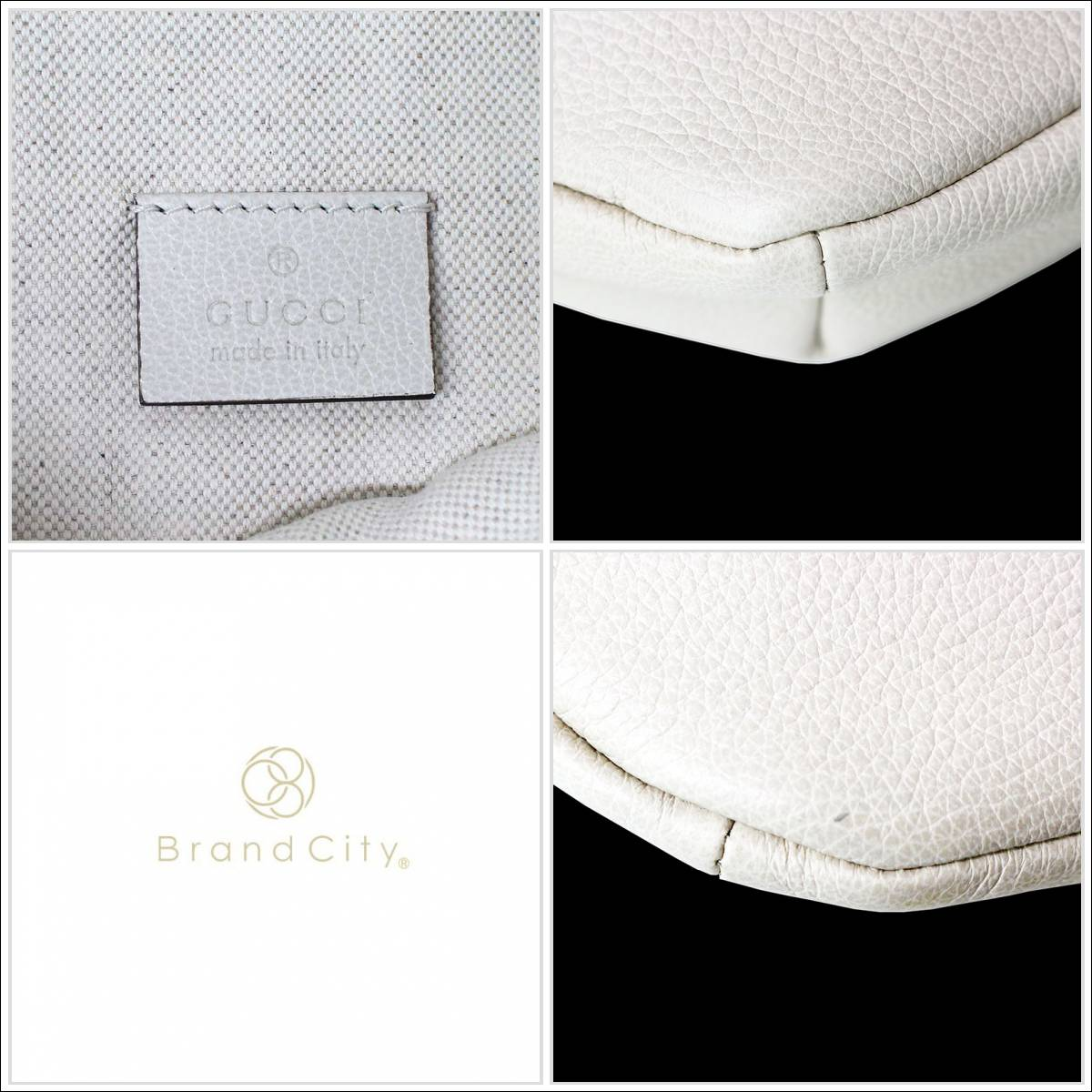 2371aed6151 BrandCity  Gucci print leather belt bag white white 493869