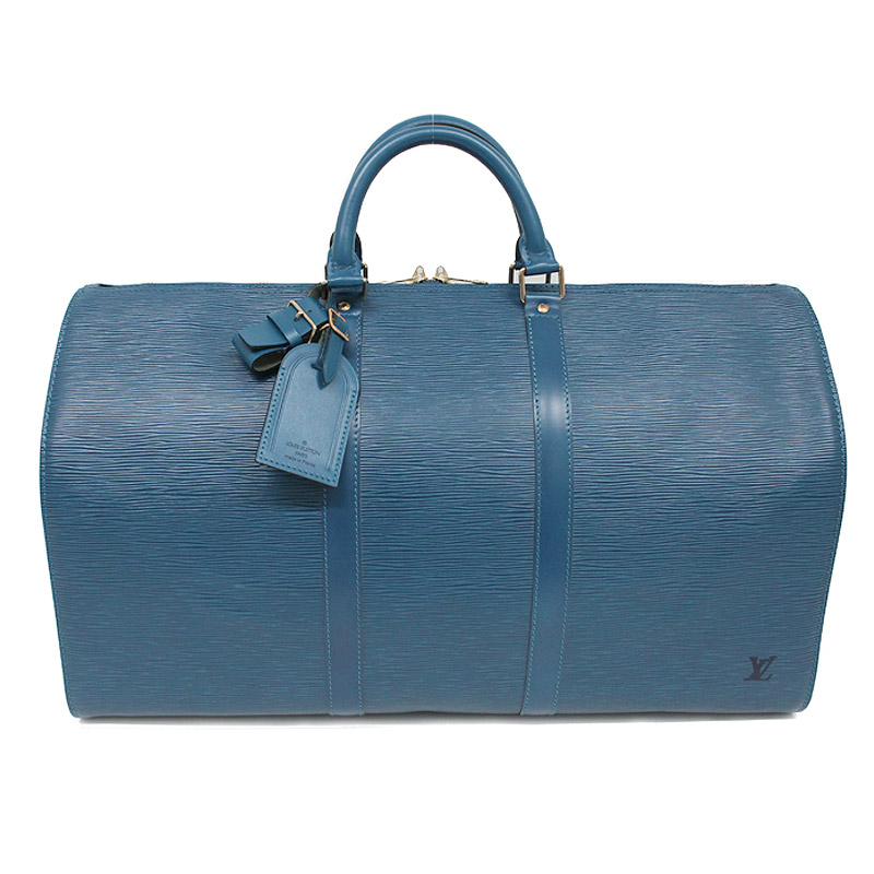 ルイ・ヴィトン エピ キーポル 50 トレドブルー バッグ M42965【美品】