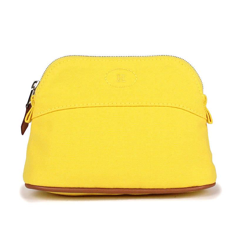 エルメス ボリード ミニミニ ポーチ イエロー 黄色 H101628M【新品・未使用品】