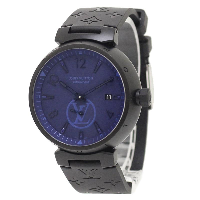ルイ・ヴィトン タンブール モノグラム パシフィック 2018SS限定モデル 自動巻き 腕時計 QA023 【美品】
