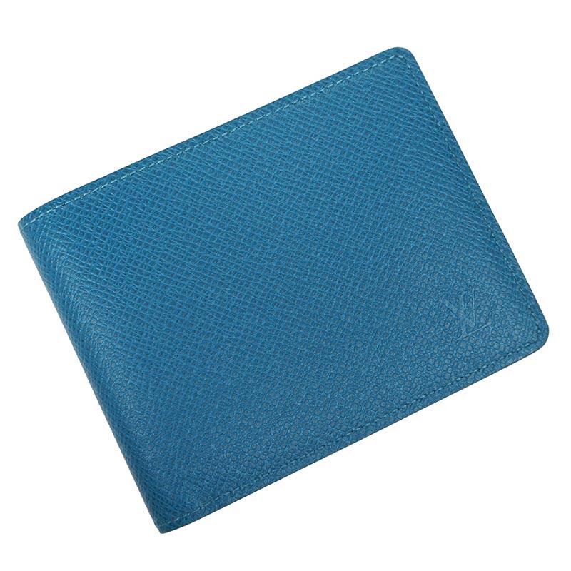 ルイ・ヴィトン タイガ ポルトフォイユ・ミュルティプル 二つ折り財布 ブルー 青 M32825【新品・未使用品】