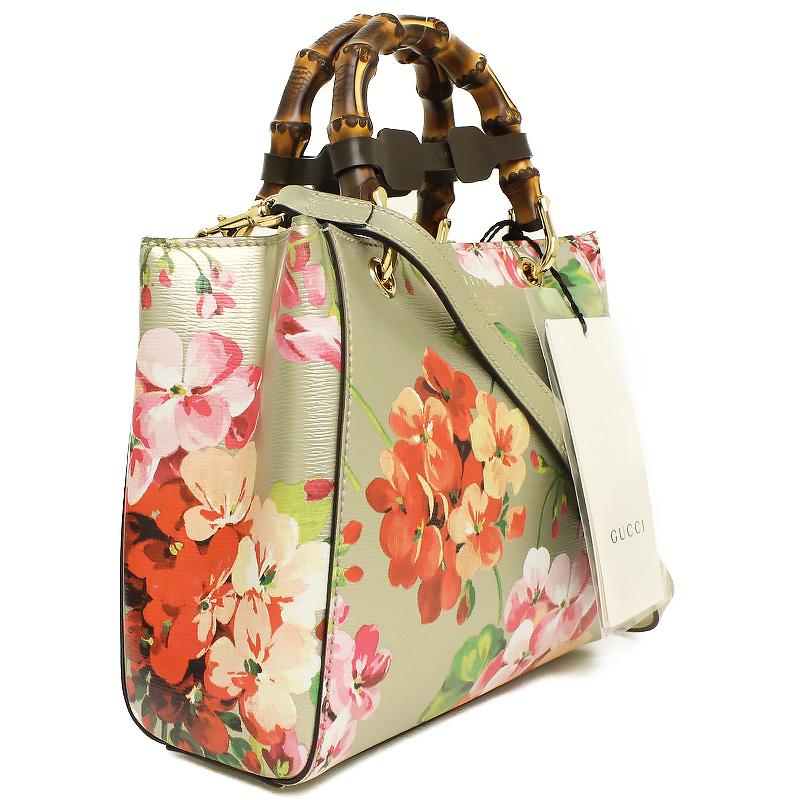 8a18fe125b65cc ... Gucci bamboo flower shopper mini-2WAY steering wheel bag gold 368823 ...
