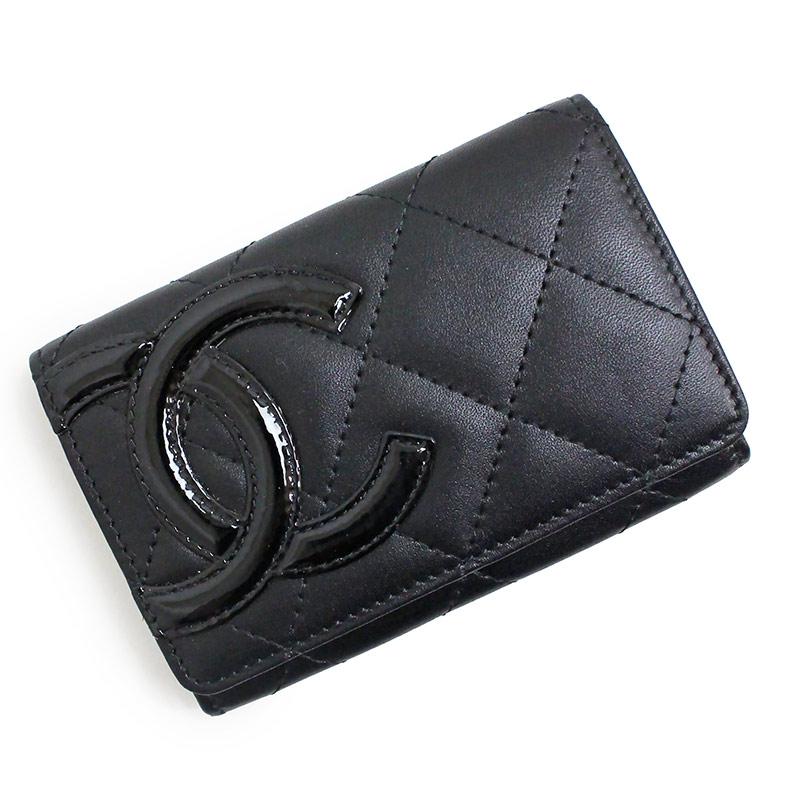 シャネル カンボンライン カードケース A50081 ブラック 黒【新品・未使用品】
