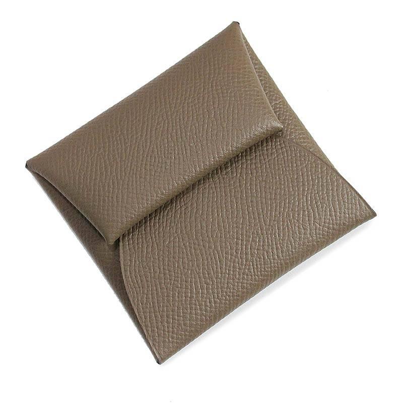 エルメス バスティア GM エプソン コインケース 財布 エトゥープ □R刻 H041054CK【新品・未使用品】