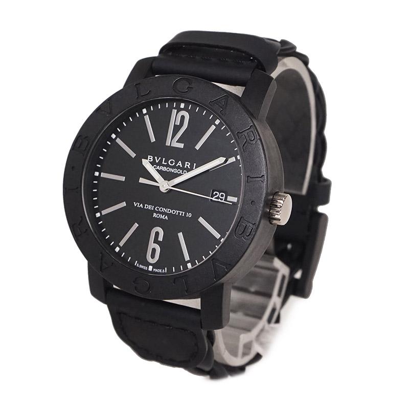 ブルガリ ブルガリ カーボンゴールド メンズ腕時計 自動巻き BBW40CGLD【新品・未使用品】