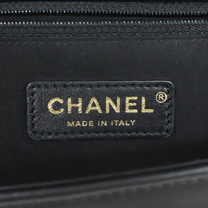 09f6e021933825 ... Chanel boy Chanel lambskin chain shoulder bag black black A92193 ...