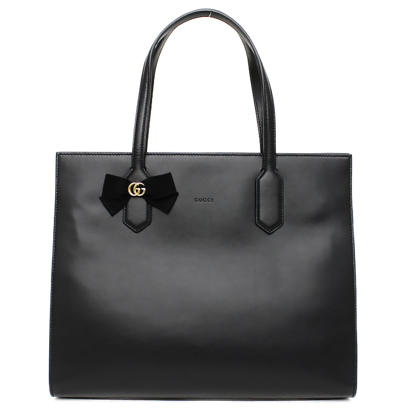 グッチ GGリボン トートバッグ 日本限定 ブラック 黒 440055【新品・未使用品】