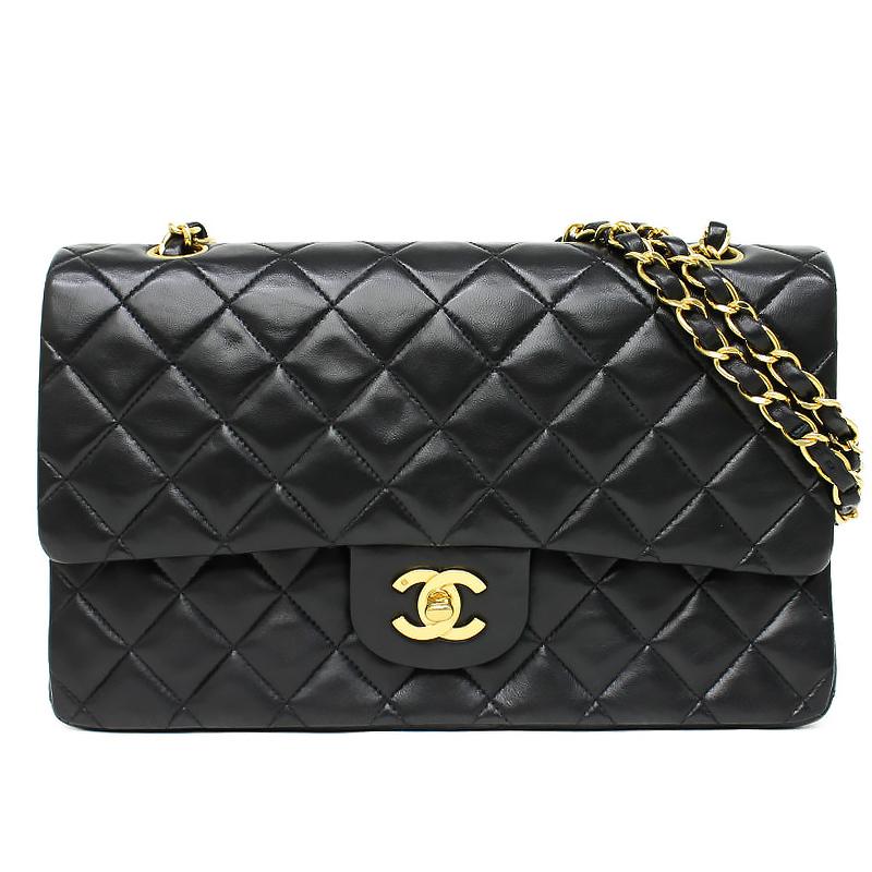 4faec151e1b7 BrandCity: Chanel lambskin matelasse W flap chain shoulder bag black ...