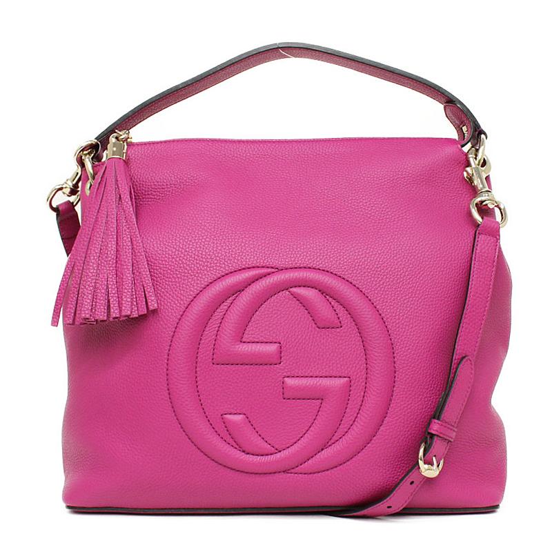 BrandCity  Gucci Soho leather 2way shoulder bag pink 408825 ... 35e69dc4b202e