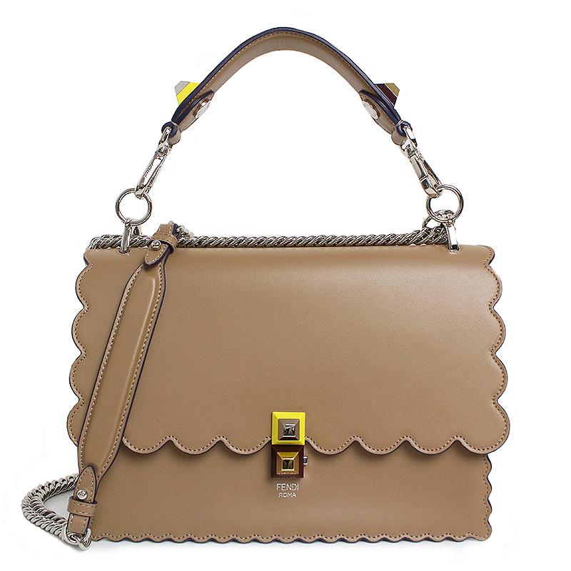0475d683b99d BrandCity  フェンディキャナイ 2WAY chain shoulder bag beige system ...