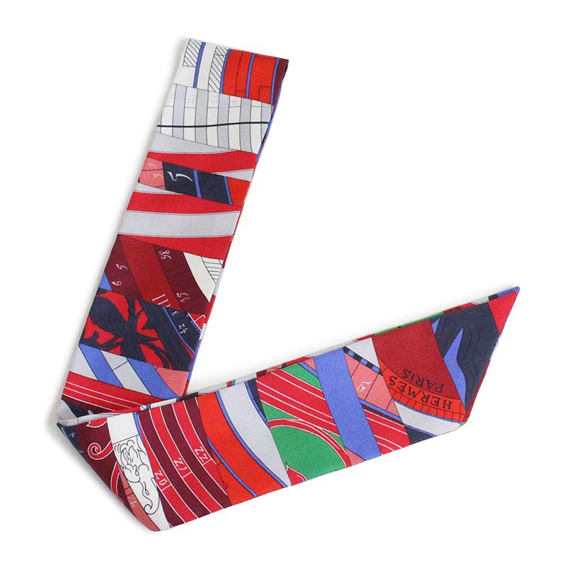 エルメス ツイリー リボンスカーフ シルク100% 新たなる占星術 H062707S 【新品・未使用品】