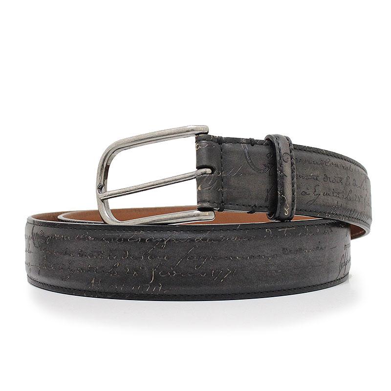 ベルルッティ カリグラフィ ベルト 35MM ブラック 黒 100/40 L0154 【未使用 展示品】