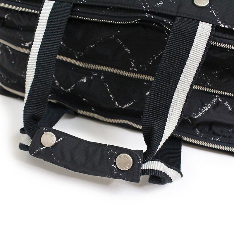 668b4447c8f4 BrandCity: Chanel old travel line Boston bag black black | Rakuten ...