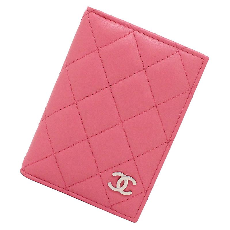 シャネル マトラッセ ココマーク ラムスキン カードケース ピンク A82369 【新品・未使用品】