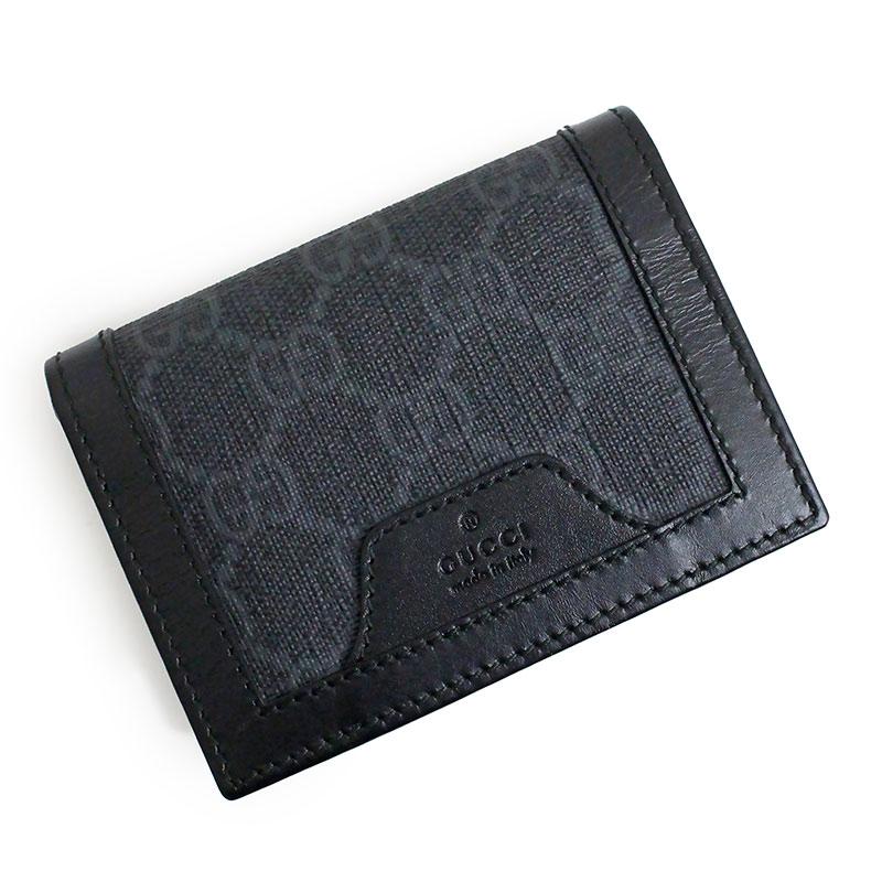 グッチ GGスプリーム カードケース 名刺入れ ブラック 黒 406696【新品・未使用品】