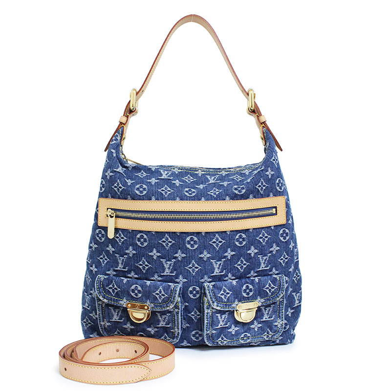 45565a7bfb06 With Louis Vuitton monogram denim buggy GM shoulder bag M95048 long  shoulder strap