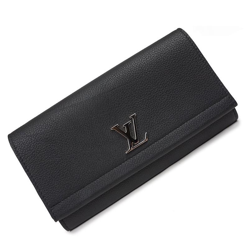 ルイ・ヴィトン ポルトフォイユ・ロックミー II 二つ折り長財布 M62329 ブラック 黒【新品・未使用品】