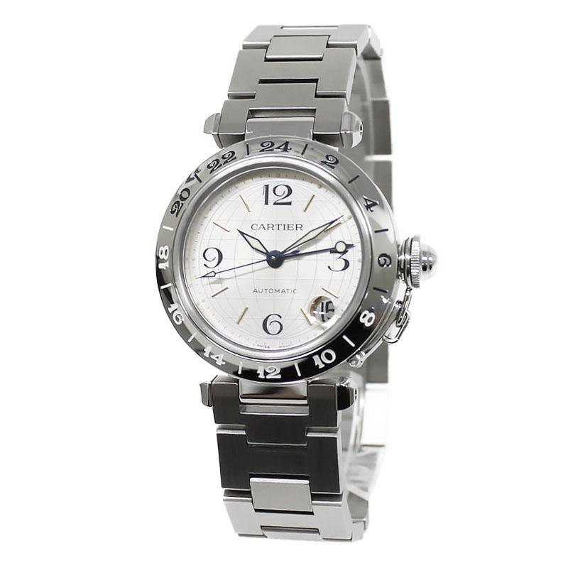 カルティエ パシャC メリディアン GMT 自動巻き ボーイズ ユニセックス 腕時計 W31029M7【未使用 展示品】