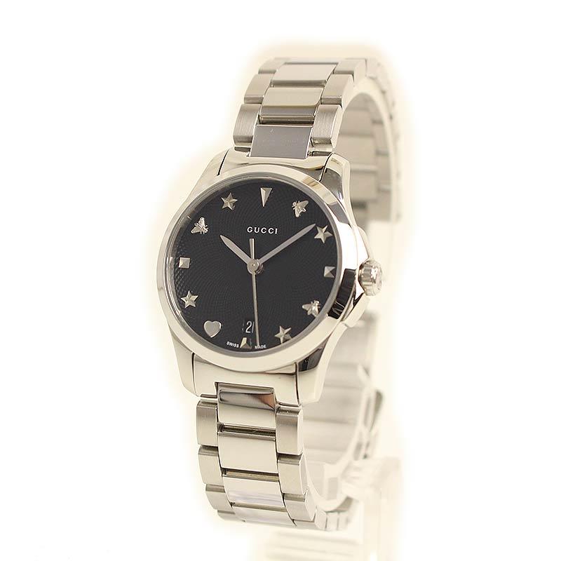 グッチ Gタイムレス クォーツ レディース腕時計 YA126573 【未使用 展示品】