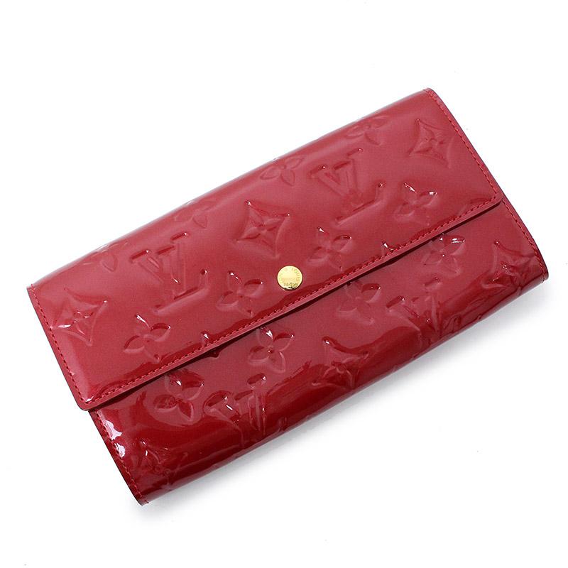 ルイ・ヴィトン ヴェルニ ポルトフォイユ・サラ 二つ折り長財布 レッド 赤 M93530 箱付【未使用 展示品】