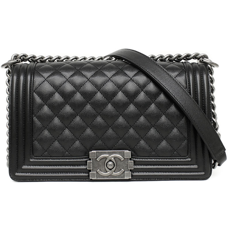 3a0014c018162f With Chanel boy Chanel caviar skin chain shoulder bag black black A67086 box  ...
