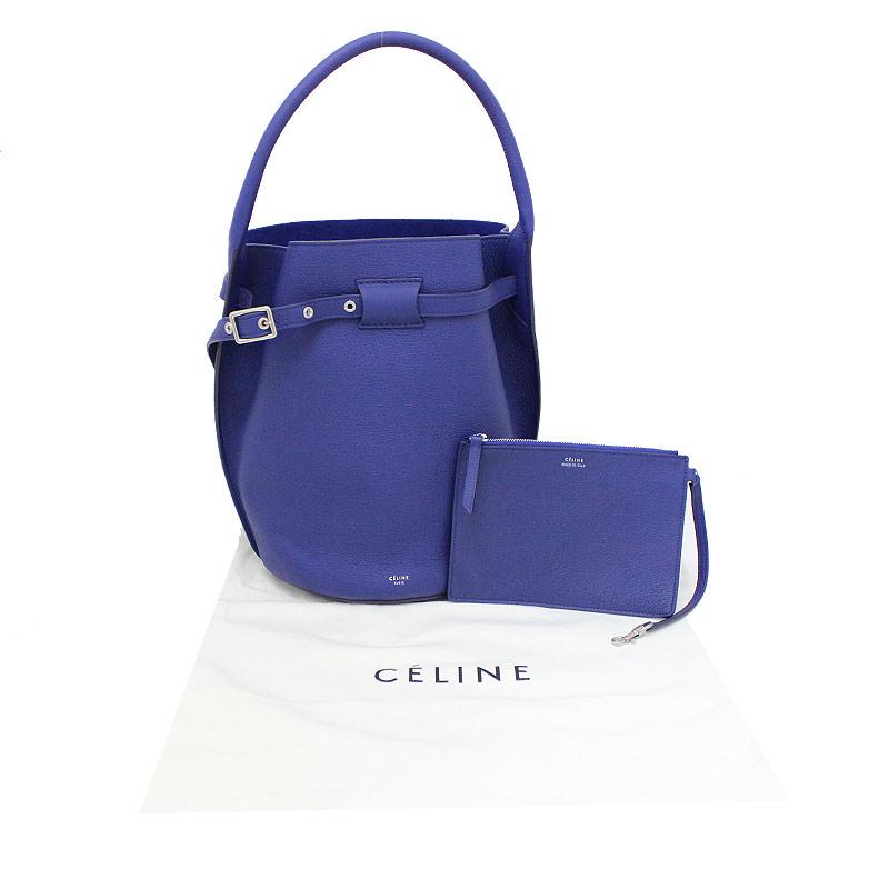 セリーヌ ビッグバッグ バケット 183353A4U ポーチ付き ブルー 青 【新品・未使用品】