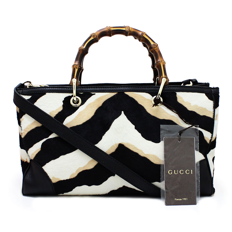 678932e44b9e BrandCity: Gucci bamboo leather X Harako 2Way medium tote bag 323660 ...