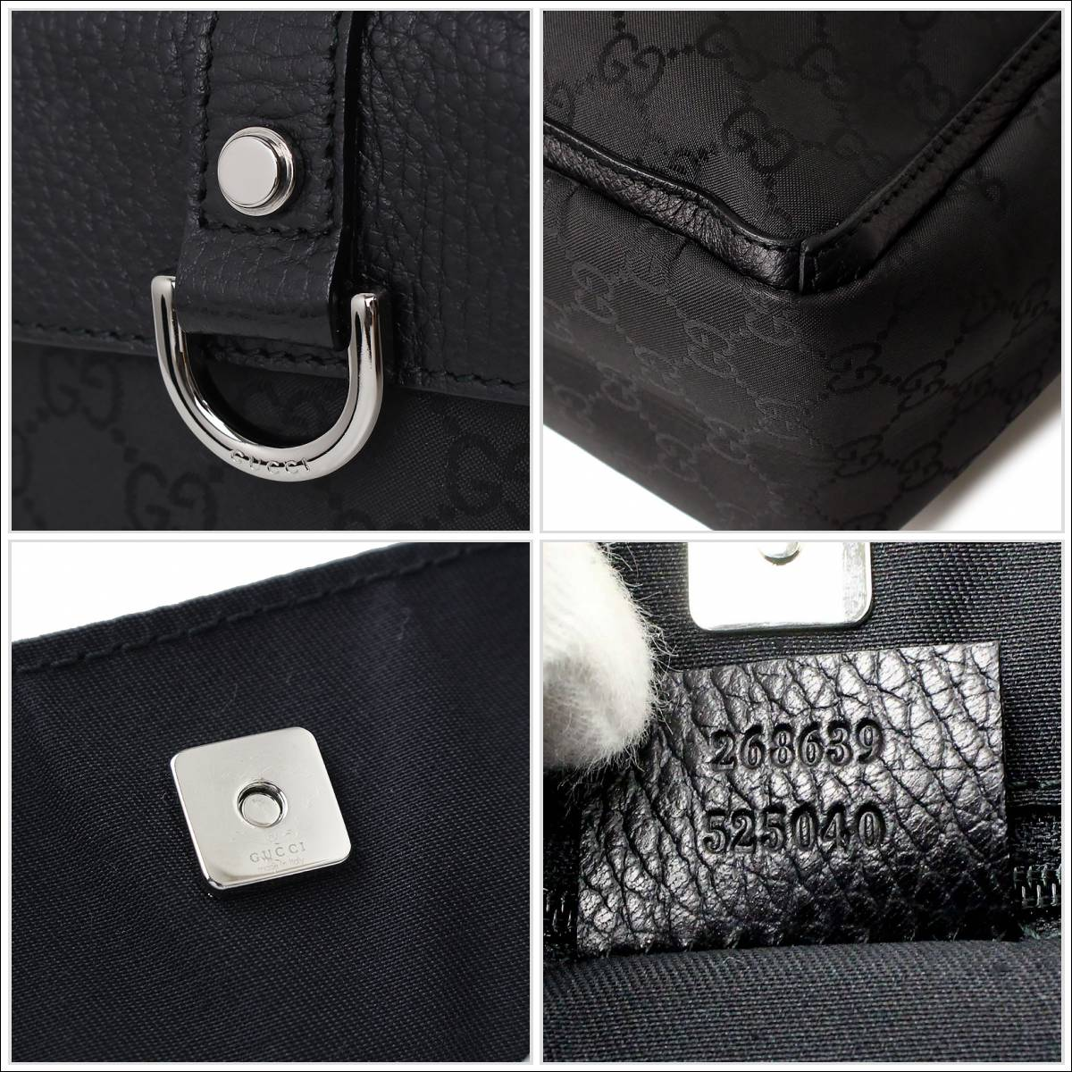 1375dc3b8d54 BrandCity: Gucci GG nylon tote bag 268639 black black   Rakuten ...
