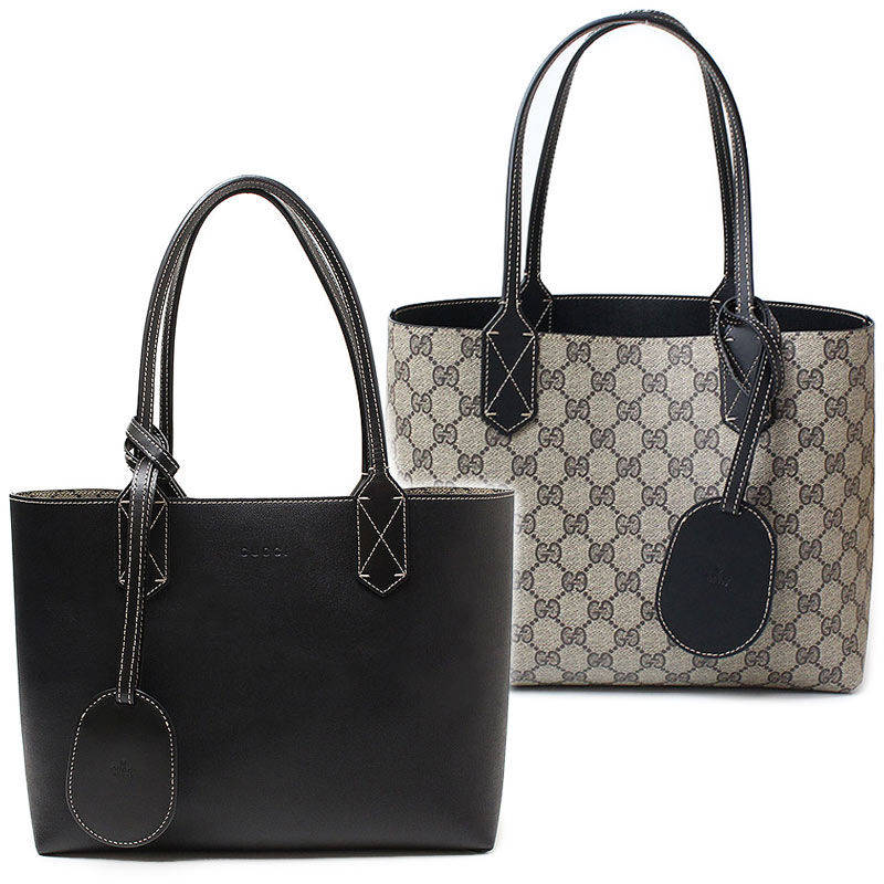 425b156143fe BrandCity: Gucci reversible GG leather Small tote bag black 372613 ...