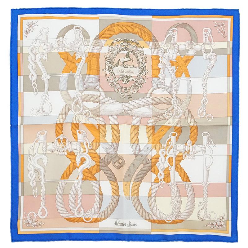 エルメス カレ 45 シルク 100% スカーフ Della Cavalleria デッラ・カヴァッレリア H892813S 箱付【新品・未使用品】