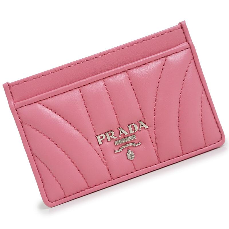プラダ ソフトカーフ カードケース ピンク 1MC208 箱付【新品・未使用品】