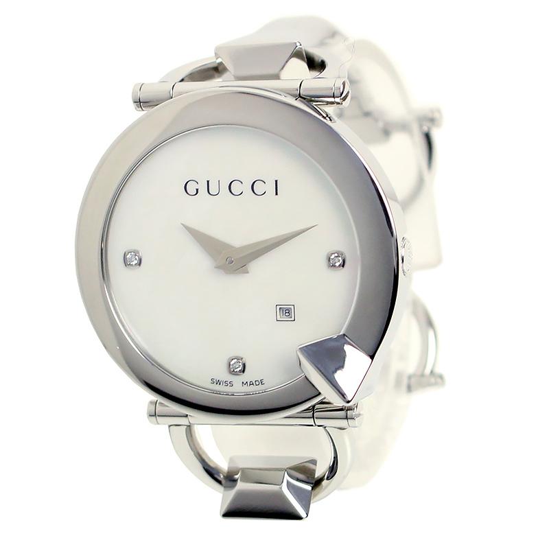 グッチ キオド ダイヤ3P クオーツ 腕時計 シェル文字盤 YA1225069 箱付【未使用 展示品】